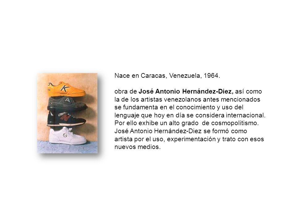 Nace en Caracas, Venezuela, 1964. obra de José Antonio Hernández-Diez, así como la de los artistas venezolanos antes mencionados se fundamenta en el c
