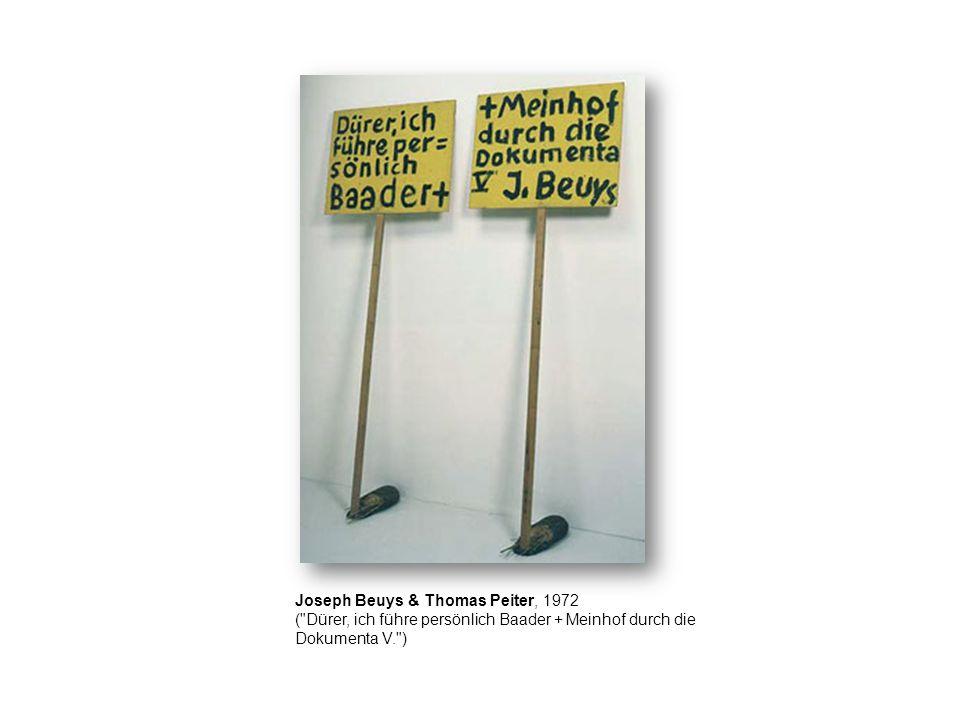 Joseph Beuys & Thomas Peiter, 1972 (