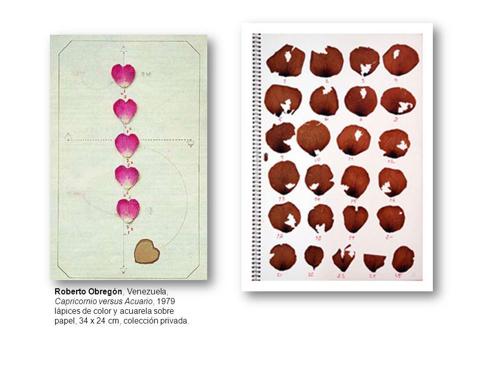 Roberto Obregón, Venezuela, Capricornio versus Acuario, 1979 lápices de color y acuarela sobre papel, 34 x 24 cm, colección privada.