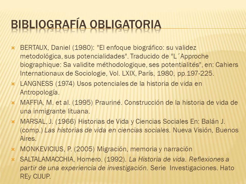 BERTAUX, Daniel (1980):