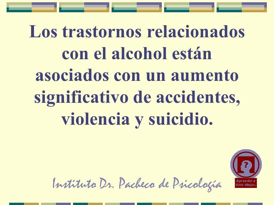 Instituto Dr. Pacheco de Psicología Los trastornos relacionados con el alcohol están asociados con un aumento significativo de accidentes, violencia y