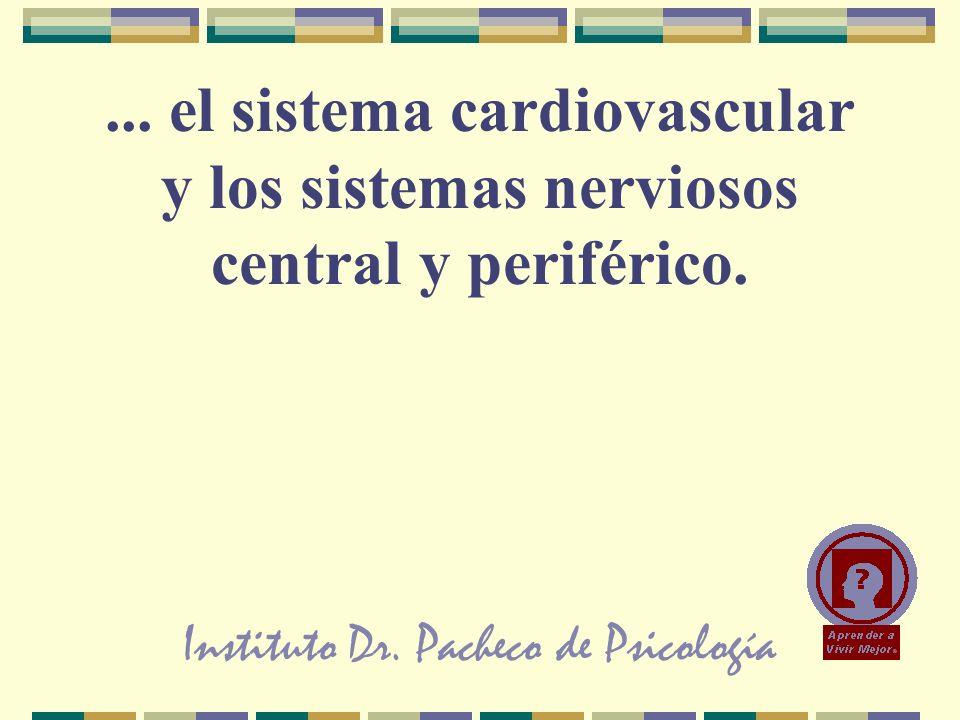 Instituto Dr. Pacheco de Psicología... el sistema cardiovascular y los sistemas nerviosos central y periférico.