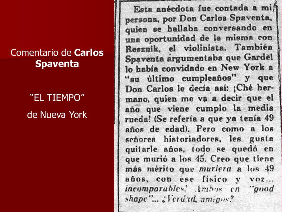 Comentario de Carlos Spaventa EL TIEMPO de Nueva York