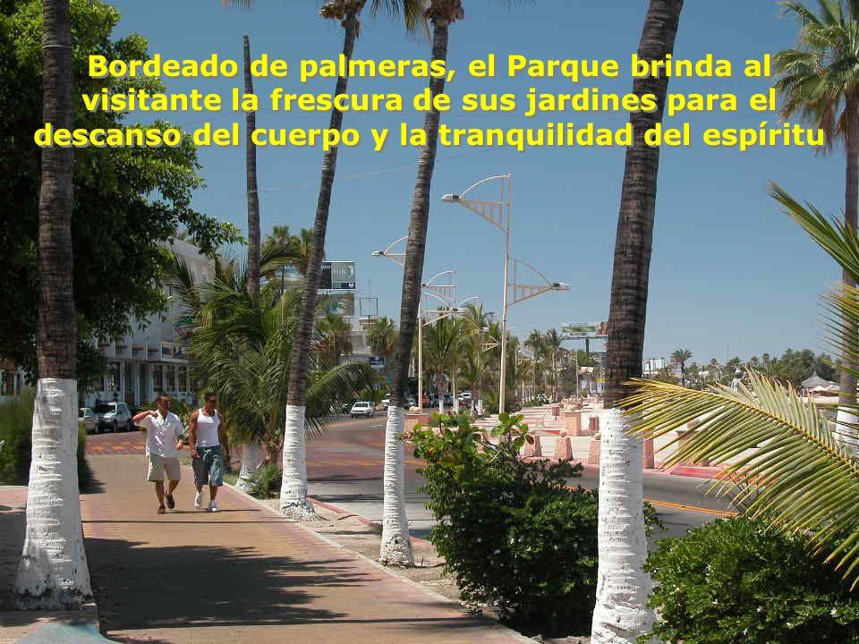 El Parque Cuauhtémoc, frente al mar, como actualmente se encuentra.