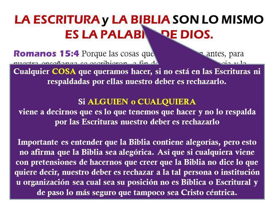 LA ESCRITURA y LA BIBLIA SON LO MISMO ES LA PALABRA DE DIOS.