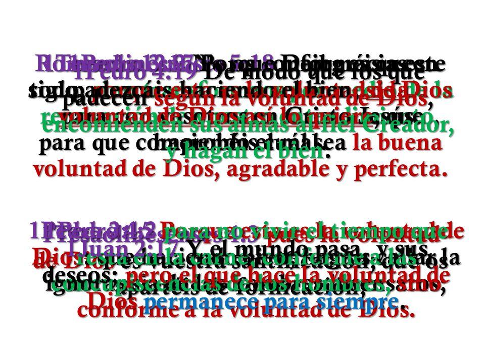 Romanos 12:2 No os conforméis a este siglo, sino transformaos por medio de la renovación de vuestro entendimiento, para que comprobéis cuál sea la buena voluntad de Dios, agradable y perfecta.