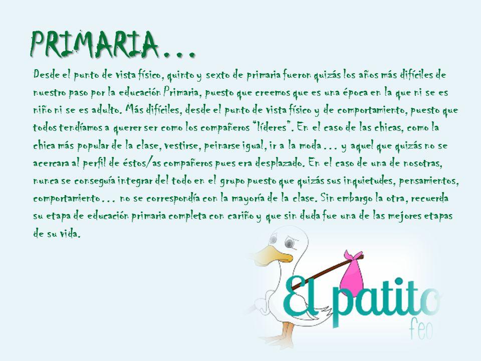 PRIMARIA… En esta etapa seguíamos celebrando el día de la Paz, el día de Andalucía, nos vestíamos de pastores, nos disfrazábamos en carnaval… pero est