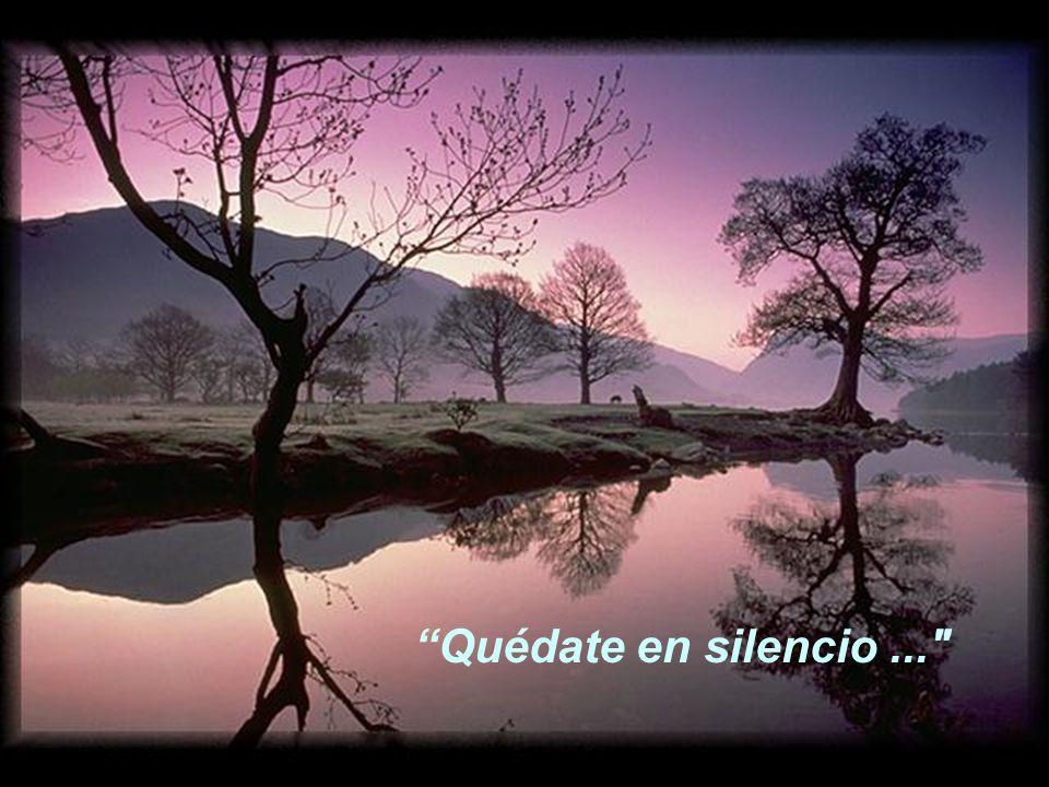 Quédate en silencio delante del Señor...