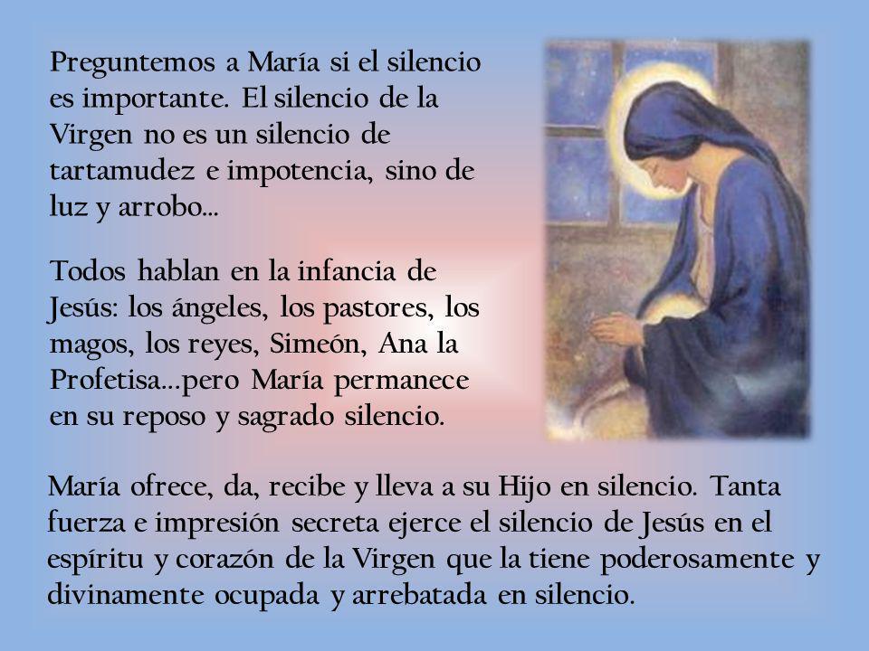 Preguntemos a María si el silencio es importante.