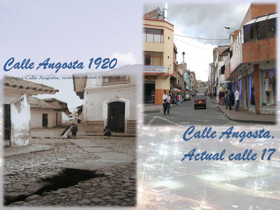Calle Angosta 1920 Calle Angosta, Actual calle 17