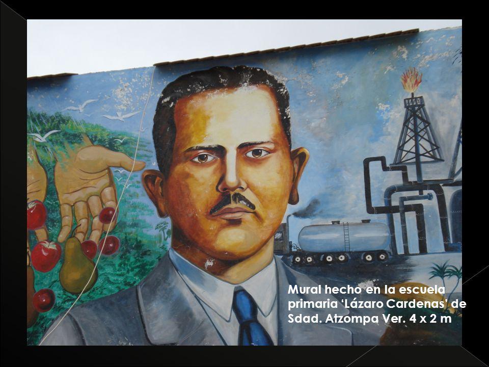 Mural hecho en la escuela primaria Lázaro Cardenas de Sdad. Atzompa Ver. 4 x 2 m