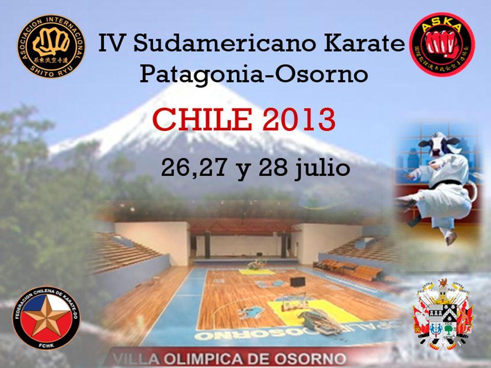 La Ciudad de Osorno, en el sur de Chile, emplazada entre la cordillera y el mar, donde comienza la Patagonia, ha tenido el privilegio de organizar el IV Sudamericano de Karate Open, de la Asociación Internacional Shito Ryu (AISRK); patrocinado por la Federación Chilena de Karate y Aska Chile.