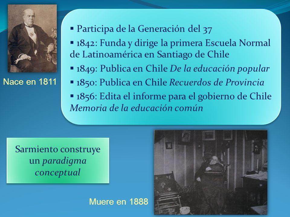 Nace en 1811 Muere en 1888 Participa de la Generación del 37 1842: Funda y dirige la primera Escuela Normal de Latinoamérica en Santiago de Chile 1849