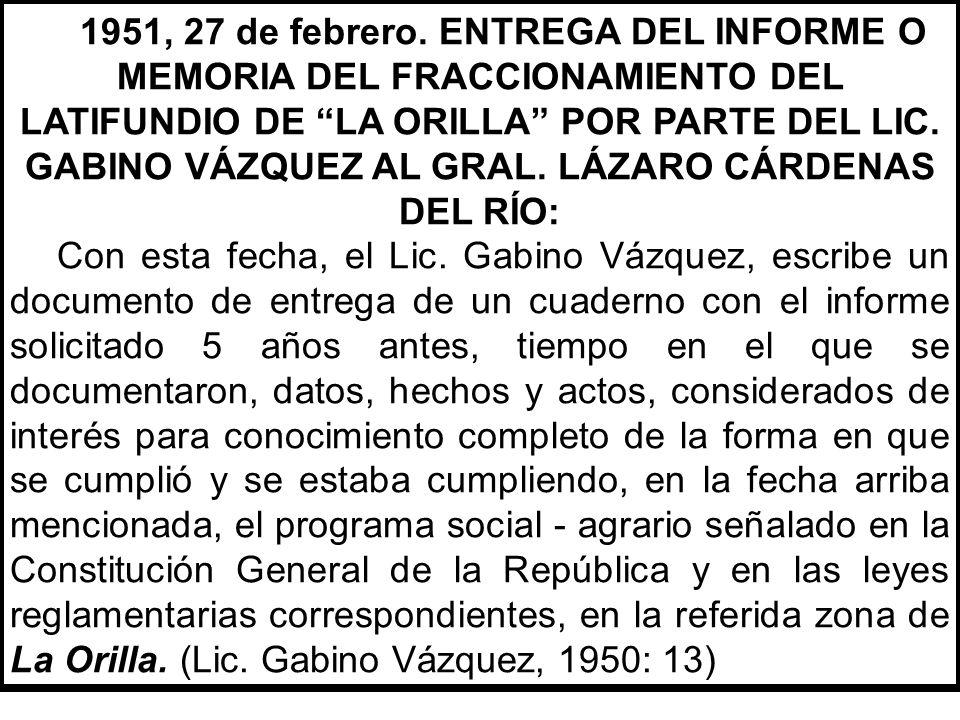 . Plaza de La Reforma del poblado de Melchor Ocampo del Balsas, Mich., en 1950. (Lic. Gabino Vázquez, 1951; 80).