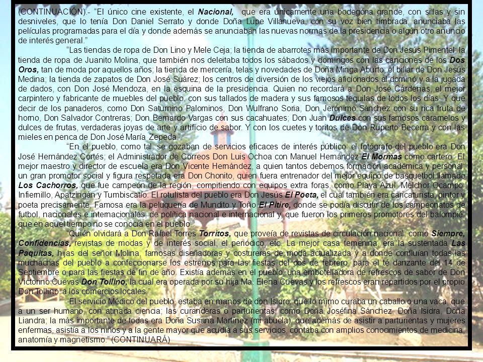 1950. EL SEÑOR GERARDO FUENTES TORRES HACE UNA CRÓNICA DEL POBLADO DE ARTEAGA DE SALAZAR, A PARTIR DE LOS AÑOS DE 1950, EN LA PRESENTACIÓN DE LA PUBLI