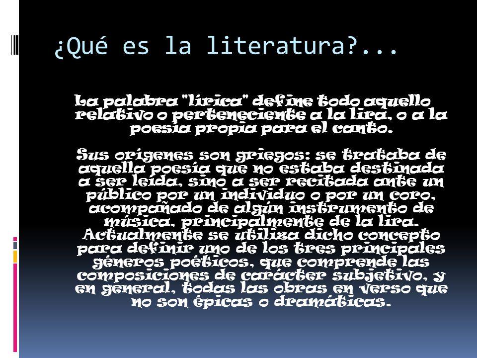 ¿Qué es la literatura?... La palabra