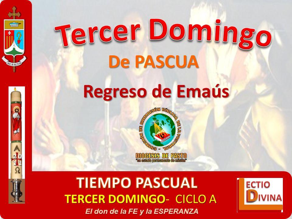 Regreso de Emaús De PASCUA TERCER DOMINGOCICLO A TERCER DOMINGO- CICLO A El don de la FE y la ESPERANZA