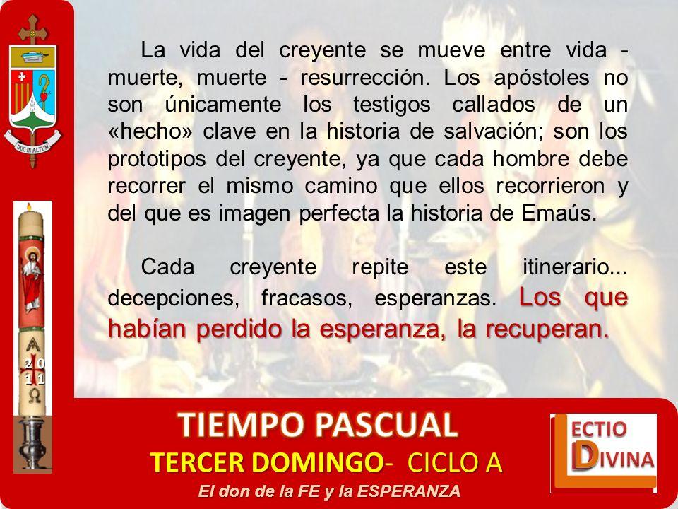 TERCER DOMINGOCICLO A TERCER DOMINGO- CICLO A El don de la FE y la ESPERANZA La vida del creyente se mueve entre vida - muerte, muerte - resurrección.