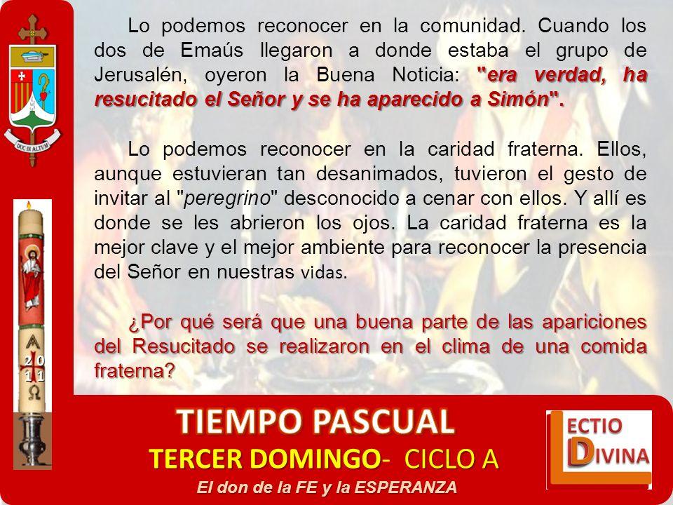 TERCER DOMINGOCICLO A TERCER DOMINGO- CICLO A El don de la FE y la ESPERANZA