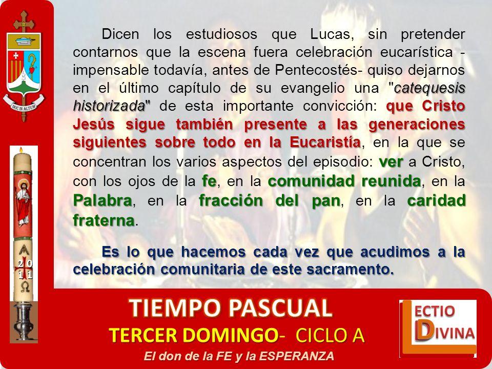 TERCER DOMINGOCICLO A TERCER DOMINGO- CICLO A El don de la FE y la ESPERANZA catequesis historizada