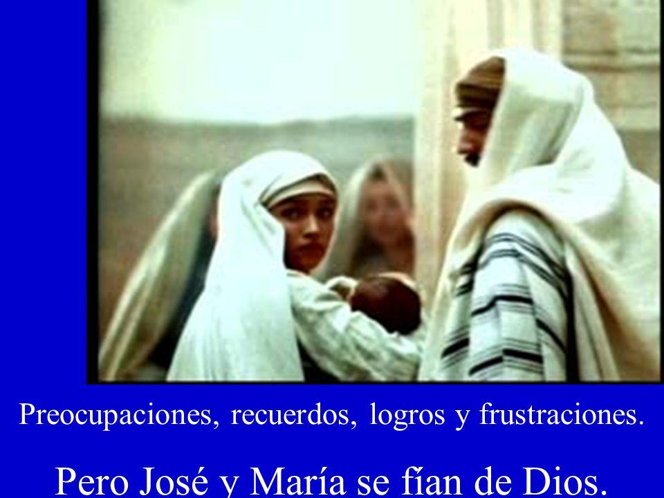 José y María se apresuran a huir a Egipto con el Niño Jesús.