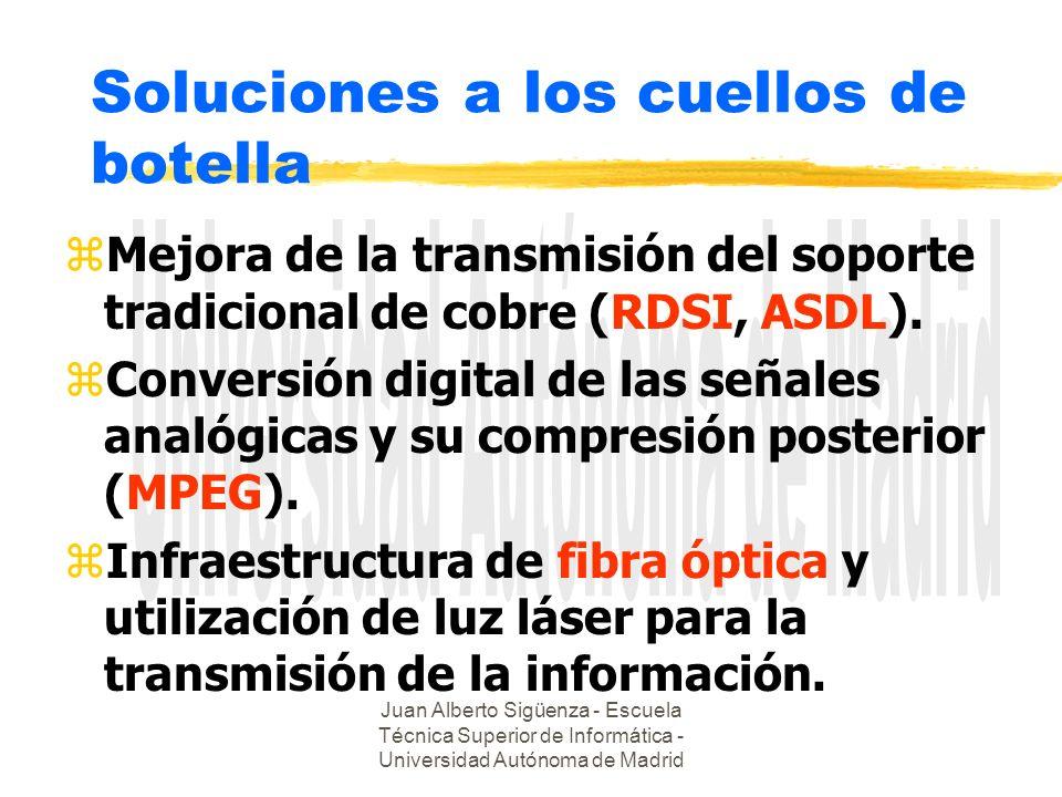 Juan Alberto Sigüenza - Escuela Técnica Superior de Informática - Universidad Autónoma de Madrid Soluciones a los cuellos de botella zMejora de la tra