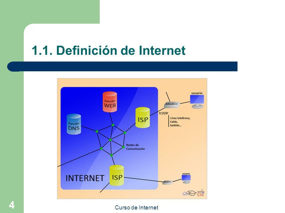 Curso de Internet 4 1.1. Definición de Internet