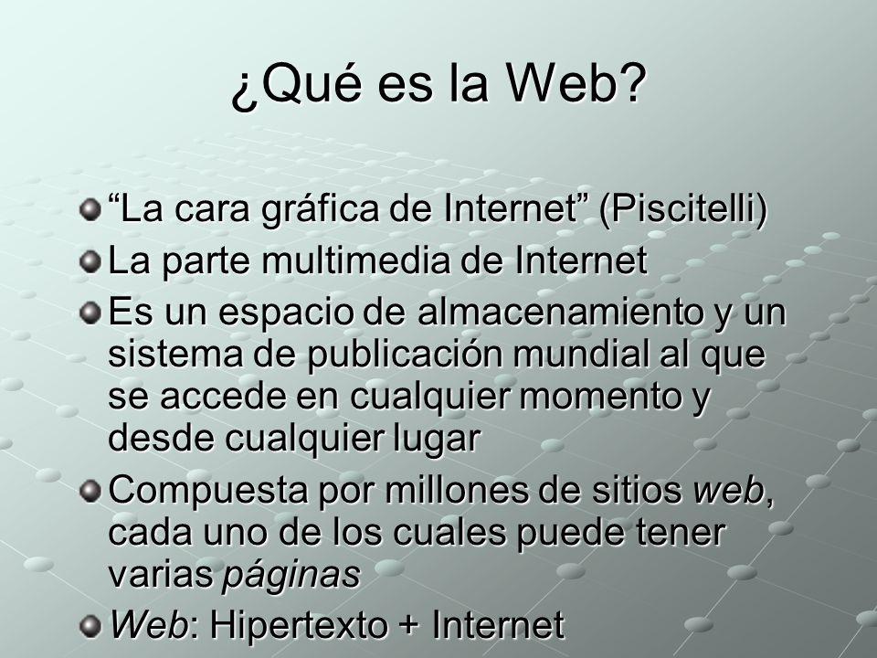 ¿Qué es la Web.