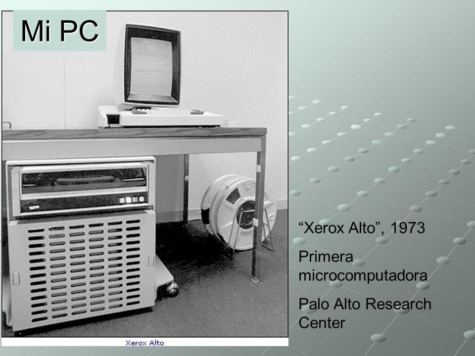 Primera PC IBM, 1981, con sistema DOS Macintosh Apple, 1984 Mi PC