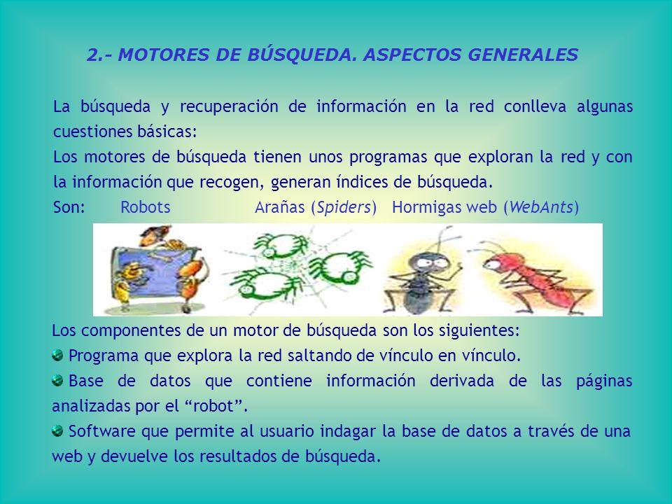 2.- MOTORES DE BÚSQUEDA.