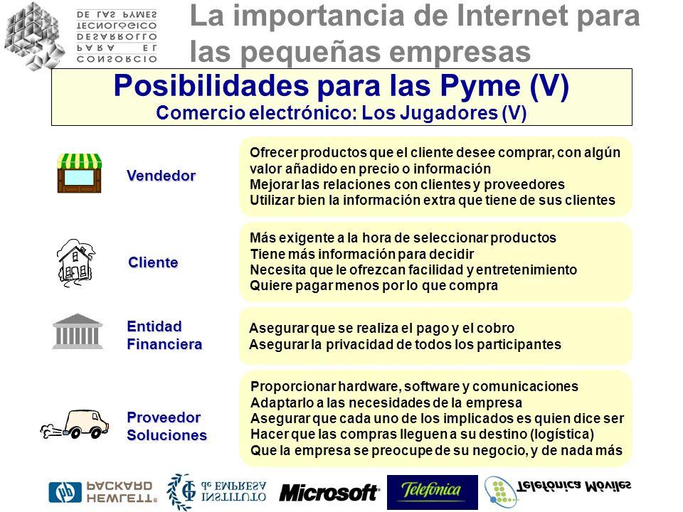 La importancia de Internet para las pequeñas empresas Ofrecer productos que el cliente desee comprar, con algún valor añadido en precio o información