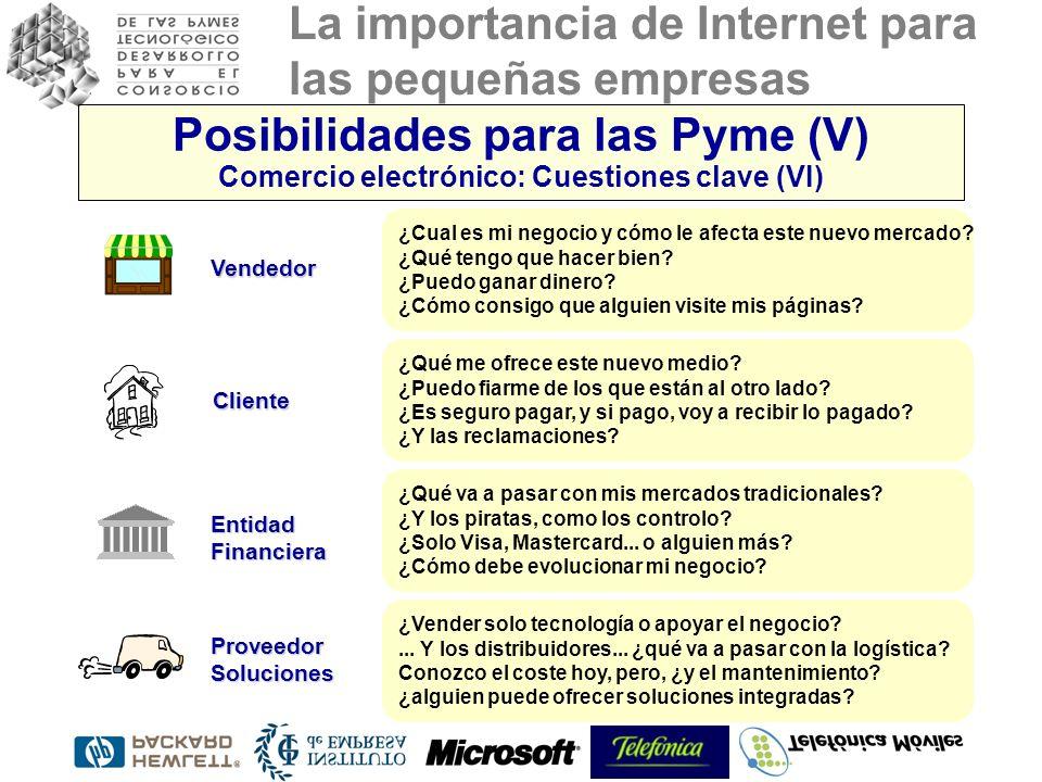 La importancia de Internet para las pequeñas empresas ¿Cual es mi negocio y cómo le afecta este nuevo mercado? ¿Qué tengo que hacer bien? ¿Puedo ganar