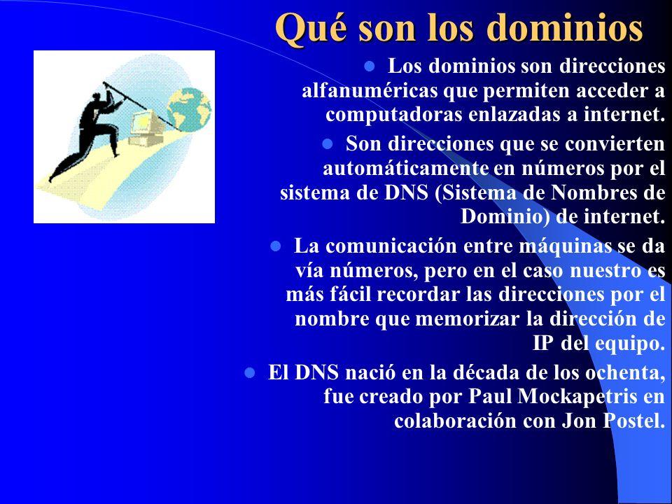 Funcionamiento de internet Gestión de nombres de dominio. Administración sistema servidores raíz. Asignación de parámetros de protocolos.
