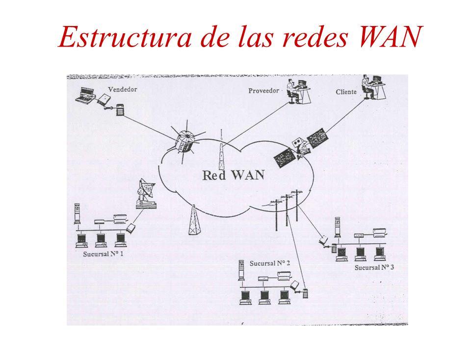 Estructura de las redes WAN