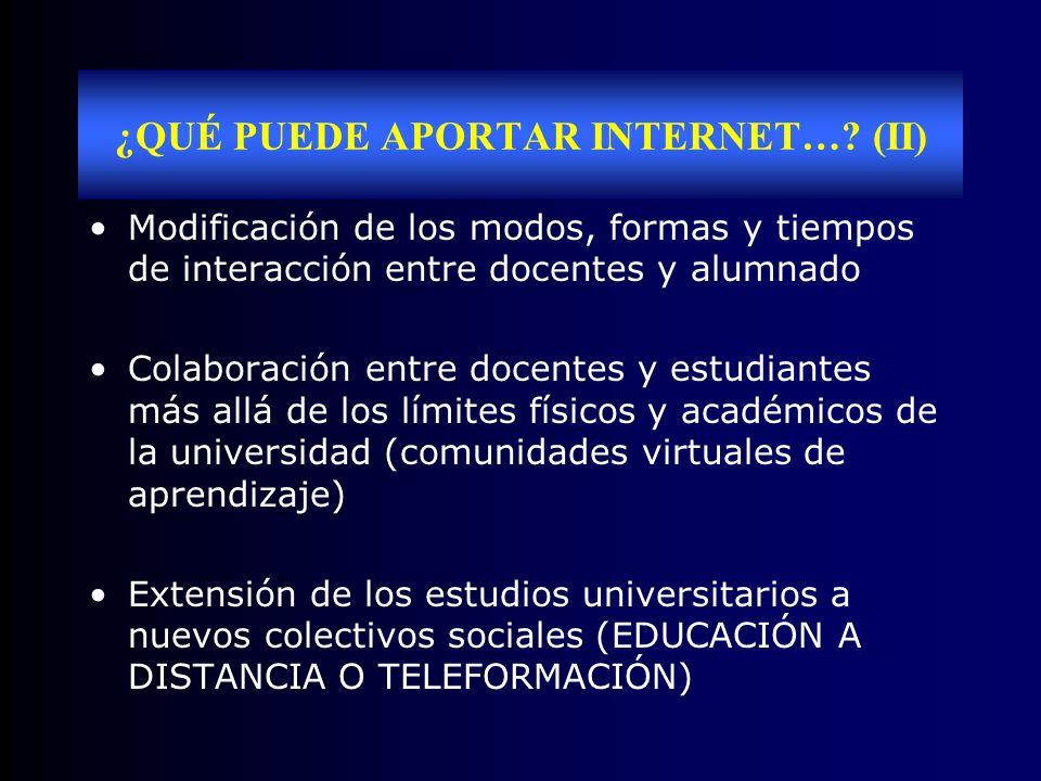 INTERNET EN LA DOCENCIA UNIVERSITARIA SIRVE PARA...