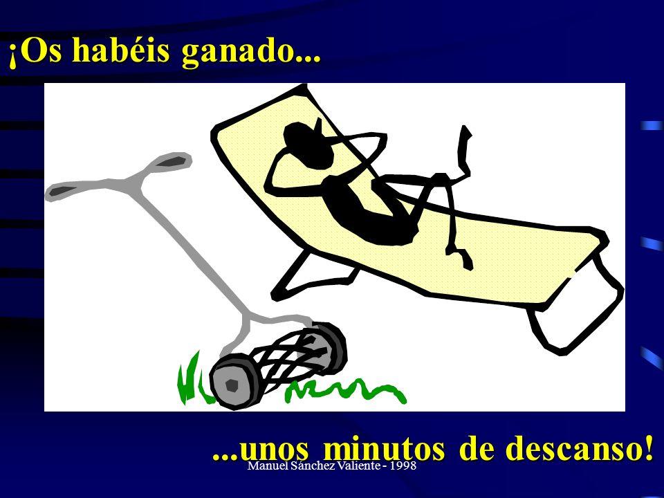 Manuel Sánchez Valiente - 1998 ¡Os habéis ganado......unos minutos de descanso!