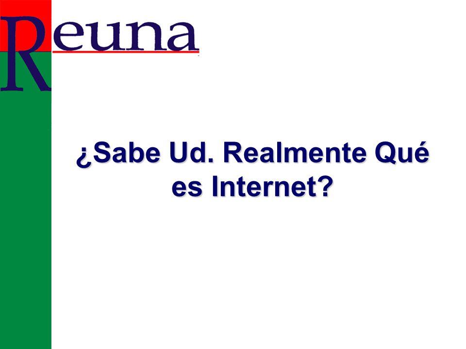 ¿Sabe Ud. Realmente Qué es Internet?