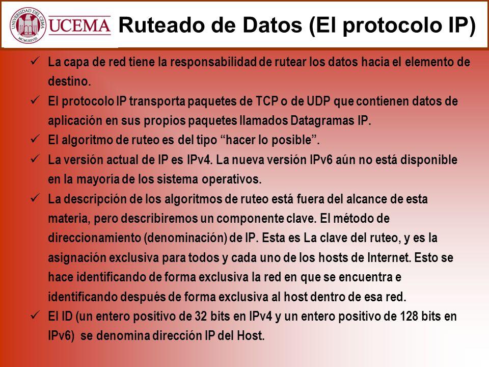 Todo datagrama IP contiene en su interior la dirección IP del remitente y la del destinatario.