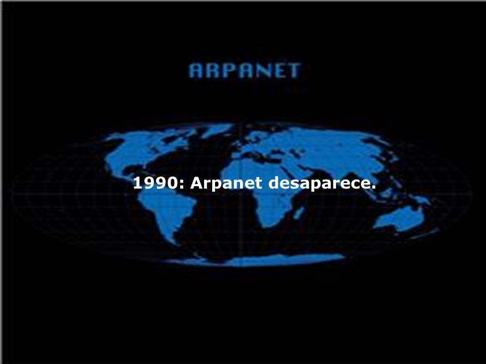 1989: Internet crece mucho, hay: 50.000 redes, 4.000.000 de Sistemas, 70 millones de Usuarios; Internet se vuelve comercial.