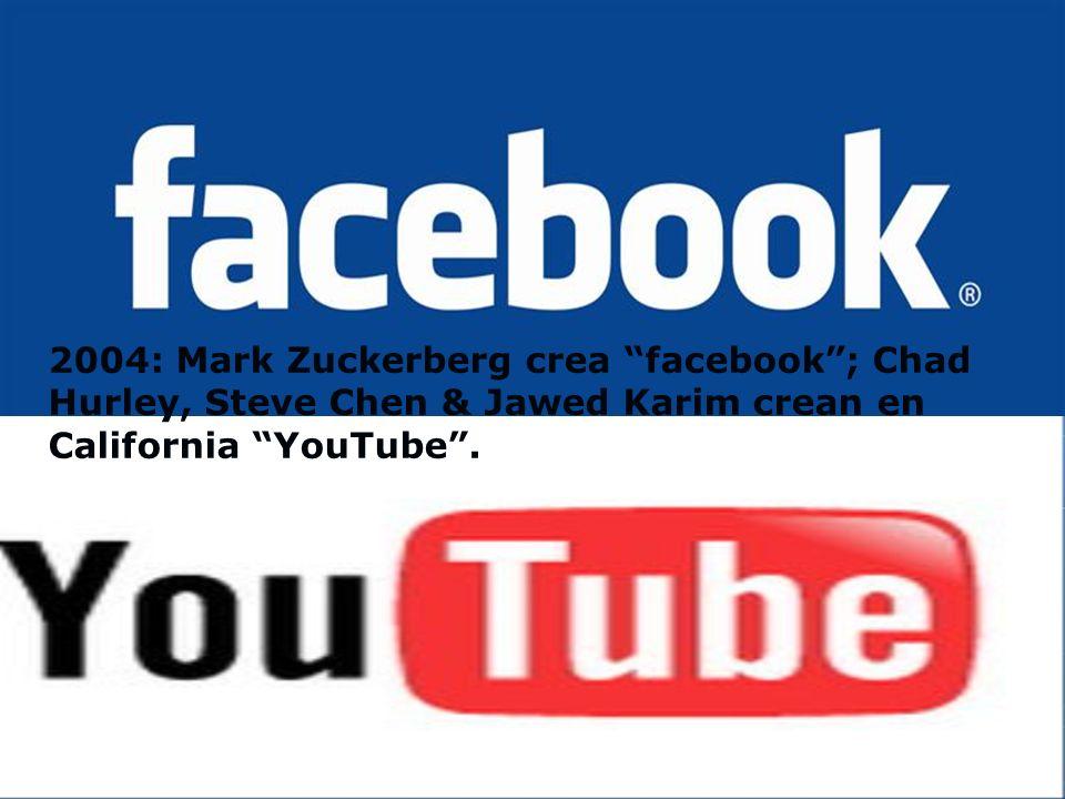 2002: se lanza la primera red social friendster, creada por Jonathan Abrams.