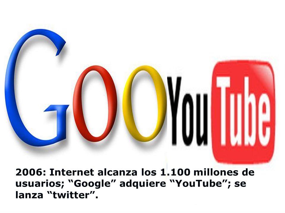 2005: aparece Megaupload y con el las descargas; Internet se convierte en una amenaza para las compañías de televisión y teléfono; en YouTube se ven m