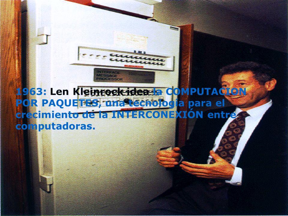 1961: se envía uno de los primeros CORREOS ELECTRONICOS del mundo, sucede en el MIT con un computador IBM-7094.