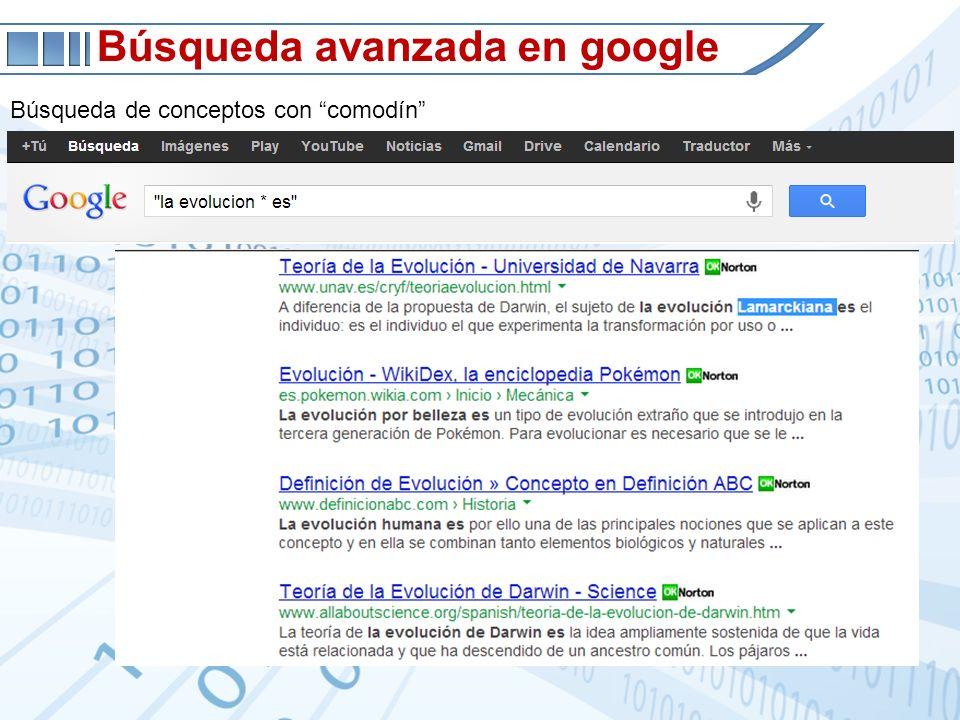 Búsqueda avanzada en google Búsqueda de conceptos con comodín