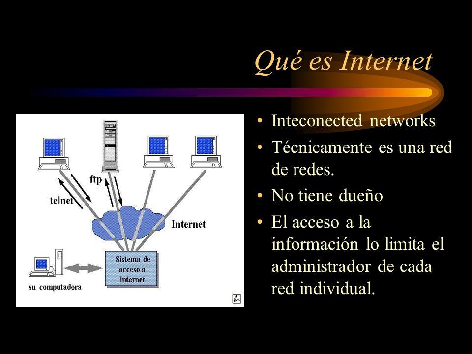 Contenido Que es Internet Como funciona Como conectarse Servicios principales Seguridad en la red Futuro de Internet