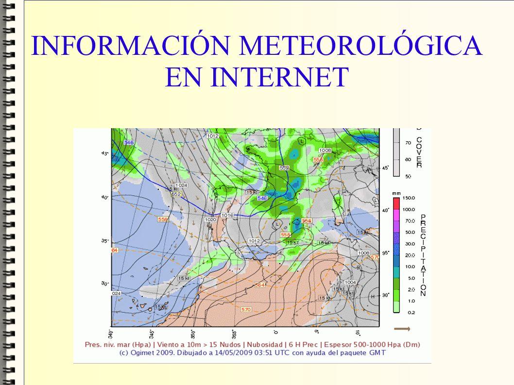 INFORMACIÓN METEOROLÓGICA EN INTERNET