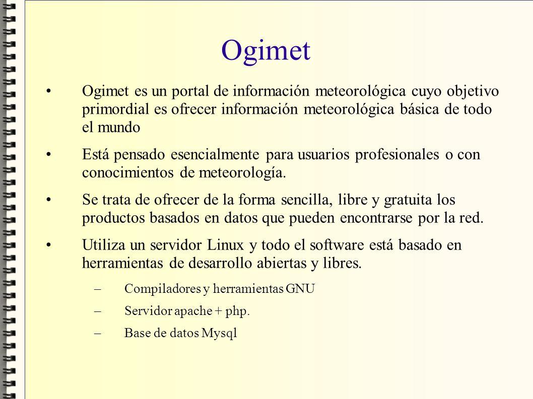 Ogimet Ogimet es un portal de información meteorológica cuyo objetivo primordial es ofrecer información meteorológica básica de todo el mundo Está pen