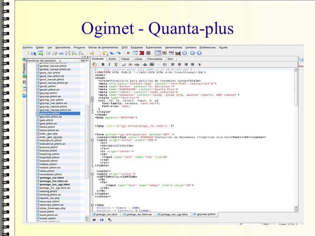 Ogimet - Quanta-plus