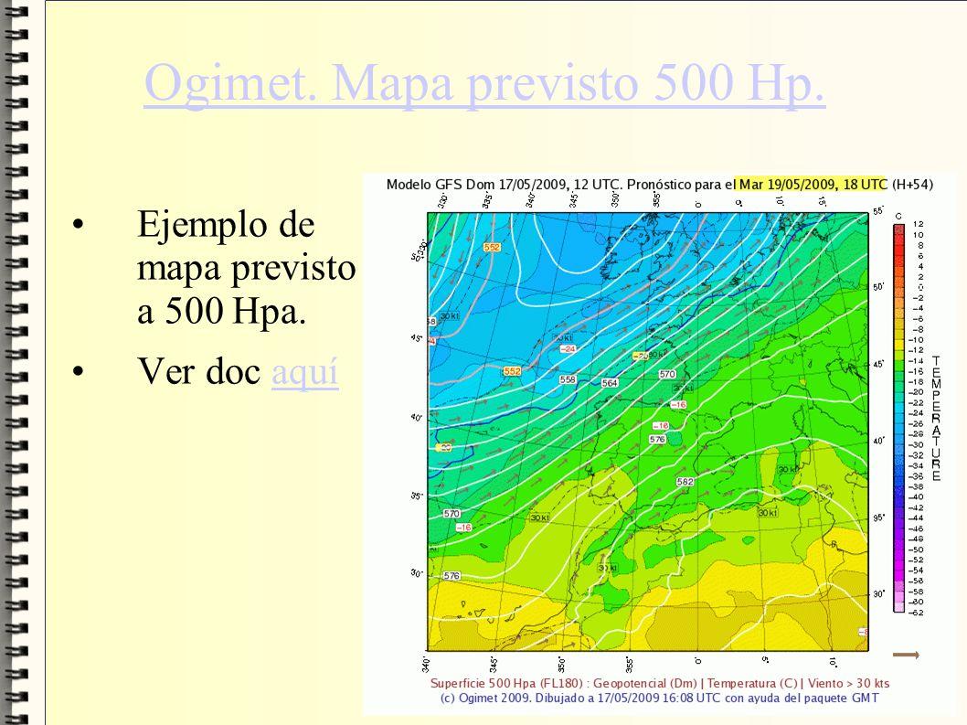 Ogimet. Mapa previsto 500 Hp. Ejemplo de mapa previsto a 500 Hpa. Ver doc aquíaquí