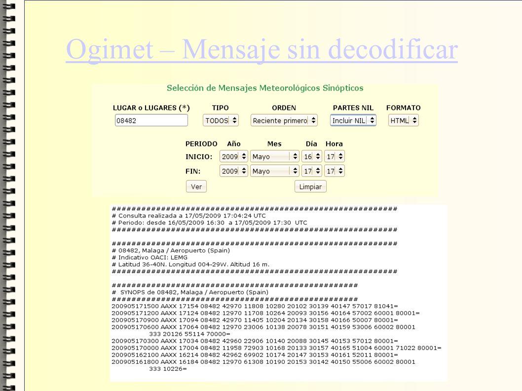 Ogimet – Mensaje sin decodificar