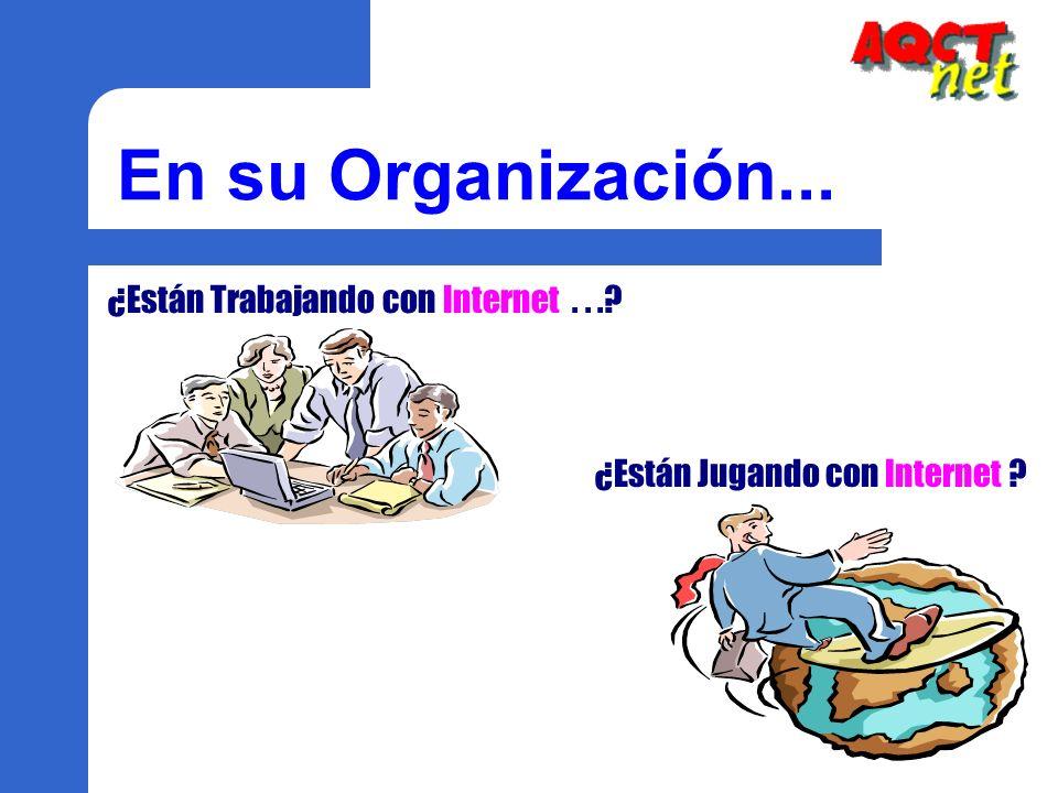 En su Organización... ¿Están Trabajando con Internet...? ¿Están Jugando con Internet ?